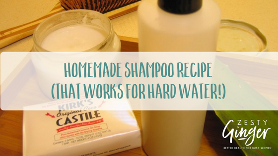 diy shampoo recipe for hard water
