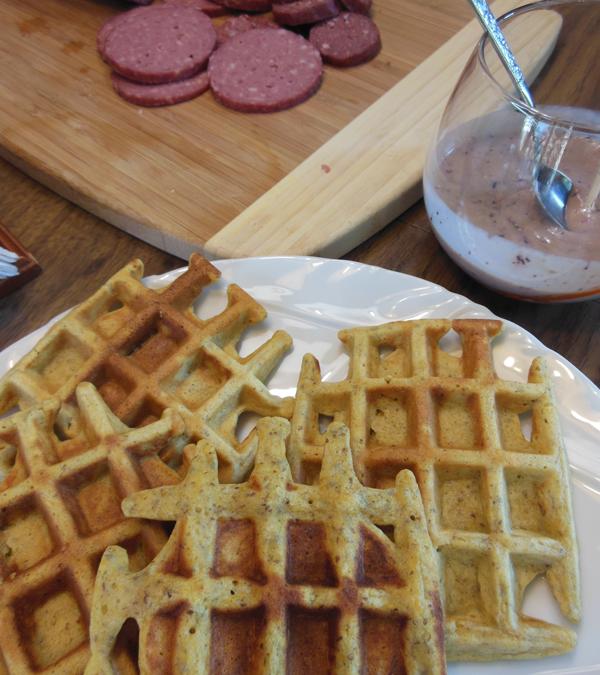 Butternut Squash Paleo Waffles