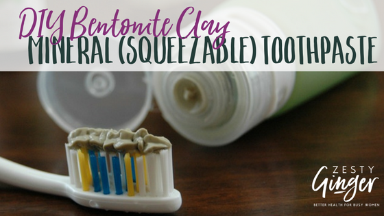 DIY Bentonite Clay Mineral (Squeezable) Toothpaste