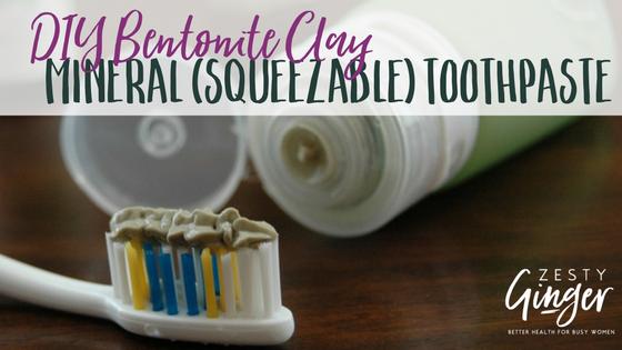 DIY Bentonite Clay Mineral (Squeezable) Toothpaste