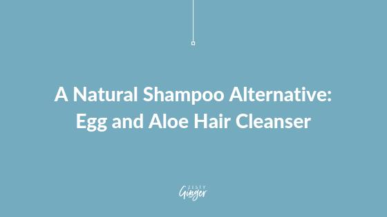 A Natural Shampoo Alternative: Egg and Aloe Hair Cleanser