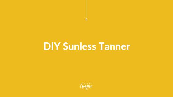 DIY Sunless Tanner