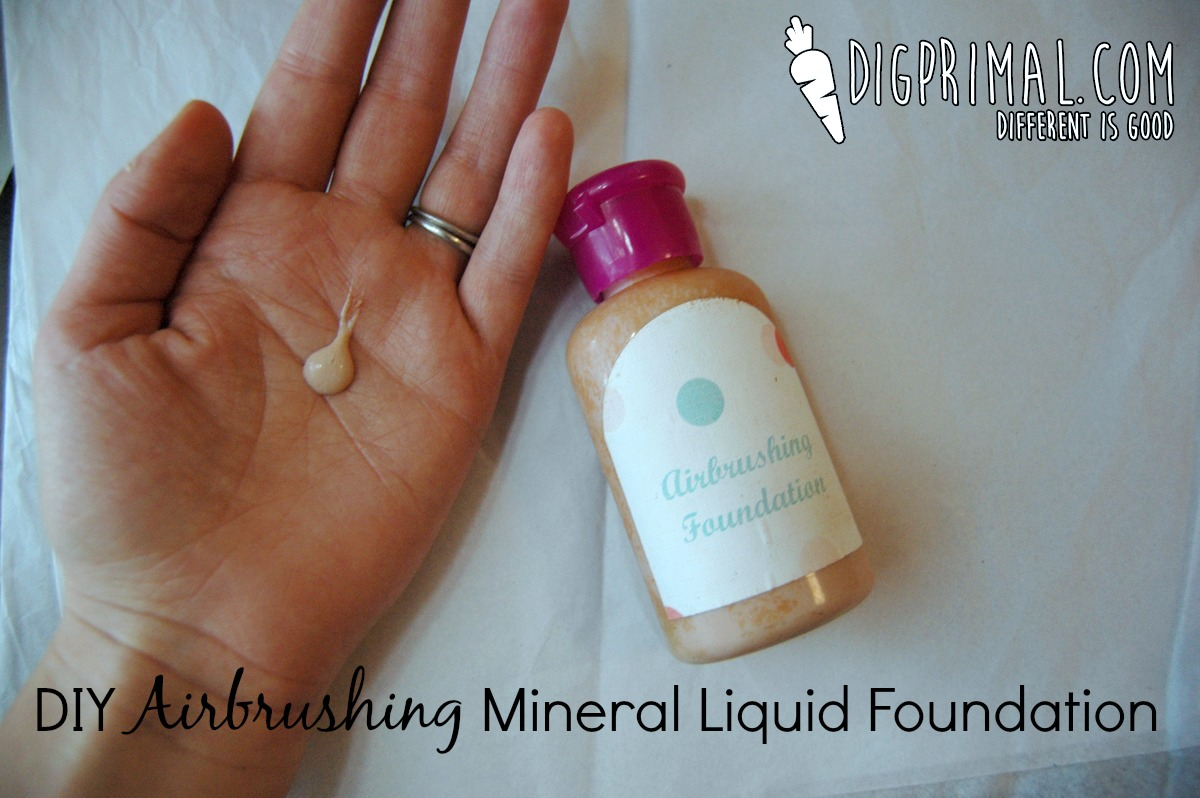 Diy Airbrushing Mineral Liquid Foundation Zesty Ginger