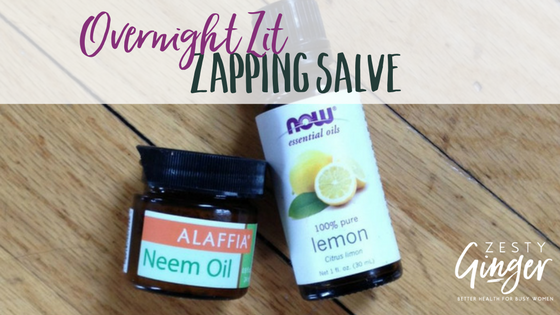 Overnight Zit Zapping Salve
