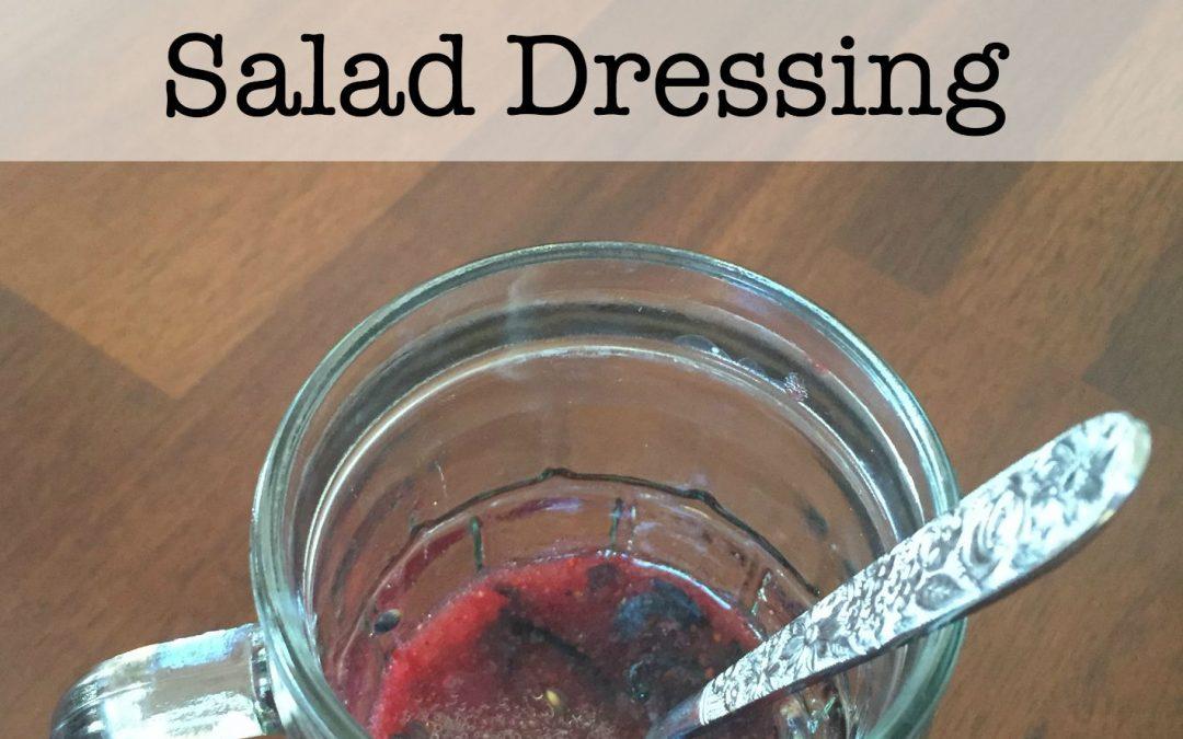 Blueberry Lavender Homemade Paleo Salad Dressing