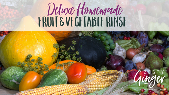 Deluxe Homemade Fruit and Vegetable Rinse