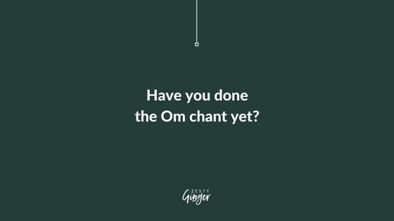 Getting in Meditation with the Om Chant