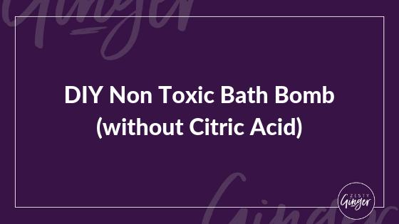 DIY Non Toxic Bath Bomb (without Citric Acid)